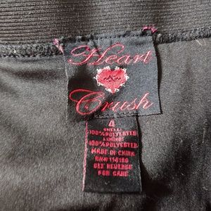 Heart n Crush Skirts - Heart n Crush Pleated Chiffon Polka Dot Mini Skirt